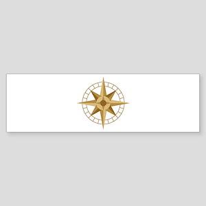 Compass Bumper Sticker