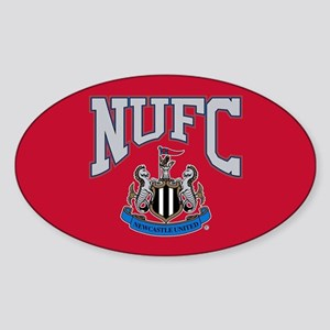 NUFC and Crest Sticker (Oval)
