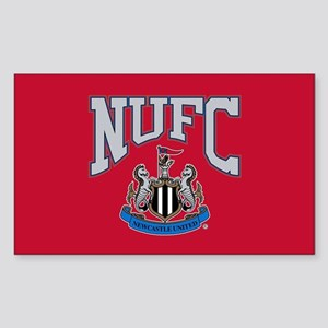 NUFC and Crest Sticker (Rectangle)