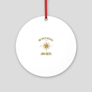 Adventure Awaits Round Ornament