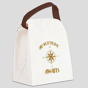Adventure Awaits Canvas Lunch Bag