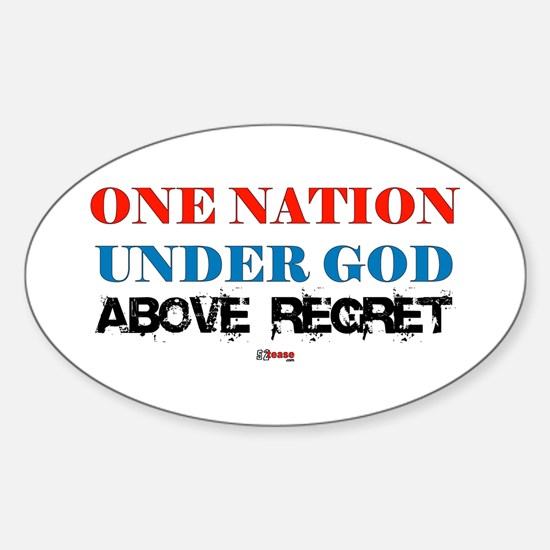 One Nation Above Regret Oval Decal