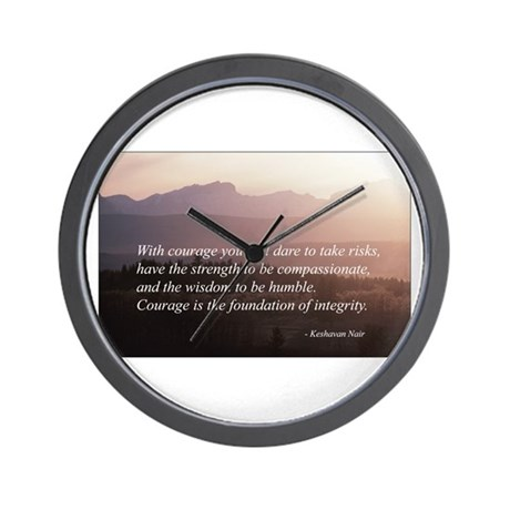 Integrity. Compassion, Courag Wall Clock