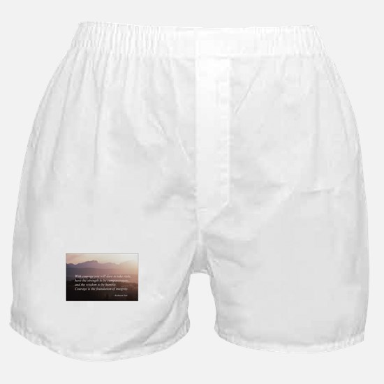 Integrity. Compassion, Courag Boxer Shorts