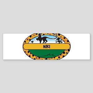 NIKI - safari Bumper Sticker
