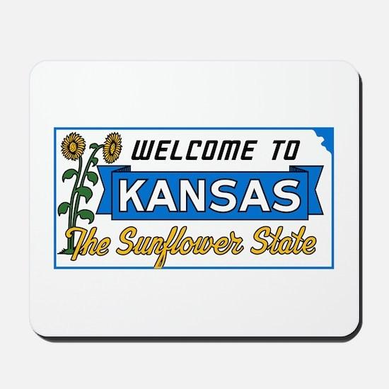 Welcome to Kansas Vintage 50s - USA Mousepad