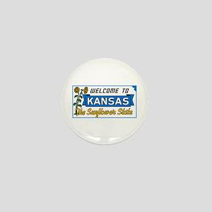 Welcome to Kansas Vintage 50s - USA Mini Button
