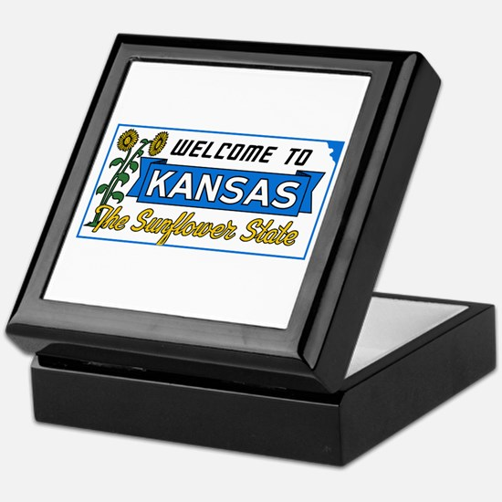 Welcome to Kansas Vintage 50s - USA Keepsake Box