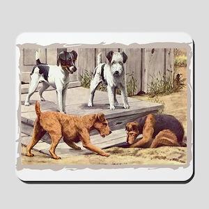 Fox, Irish & Welsh Terriers Vintage Mousepad