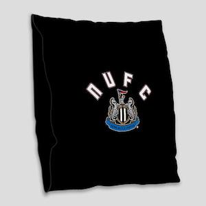 NUFC and Crest Burlap Throw Pillow