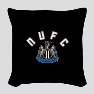 NUFC and Crest Woven Throw Pillow