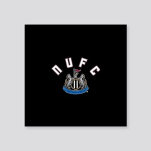 "NUFC and Crest Square Sticker 3"" x 3"""