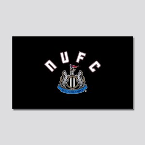 NUFC and Crest Car Magnet 20 x 12