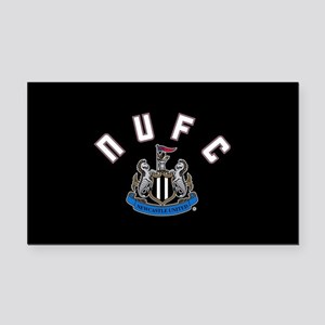 NUFC and Crest Rectangle Car Magnet