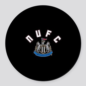 NUFC and Crest Round Car Magnet