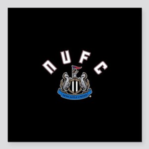 "NUFC and Crest Square Car Magnet 3"" x 3"""