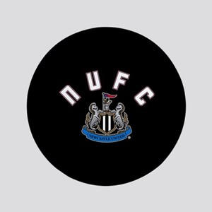 """NUFC and Crest 3.5"""" Button"""