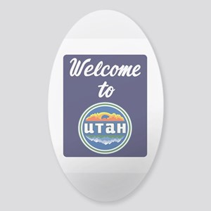 Welcome to Utah Vintage 80s - USA Sticker (Oval)