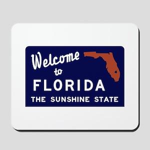 Welcome to Florida Vintage 70s - USA Mousepad