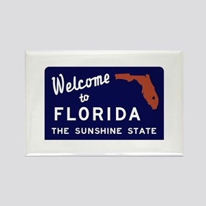 Welcome to Florida Vintage 70s - Rectangle Magnet