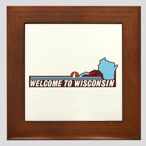 Welcome to Wisconsin 90s - USA Framed Tile
