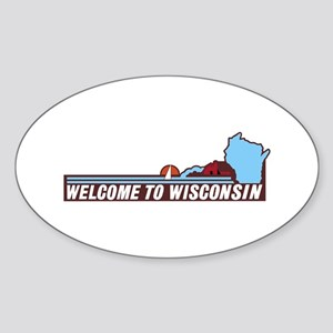 Welcome to Wisconsin 90s - USA Sticker (Oval)