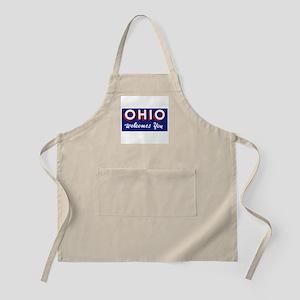 Ohio Welcomes You - USA Apron