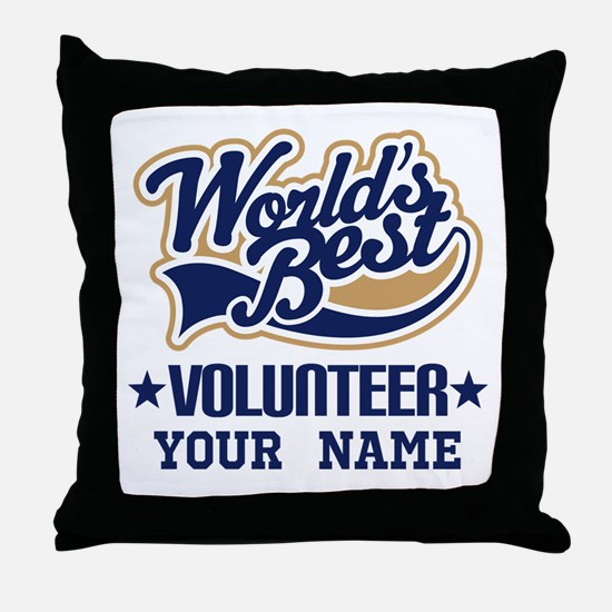 Volunteer Personalized Gift Throw Pillow