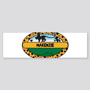 MAKENZIE - safari Bumper Sticker