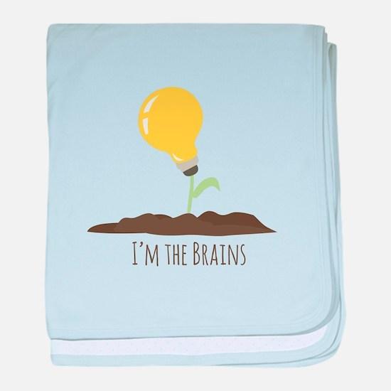 Im The Brains baby blanket