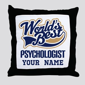 Worlds Best Psychologist Throw Pillow