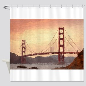Golden Gate Bridge Inspiration Shower Curtain
