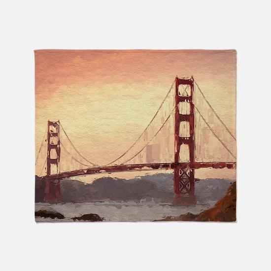 Golden Gate Bridge Inspiration Throw Blanket