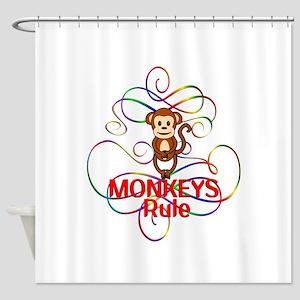 Monkeys Rule Shower Curtain