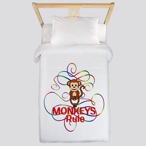 Monkeys Rule Twin Duvet
