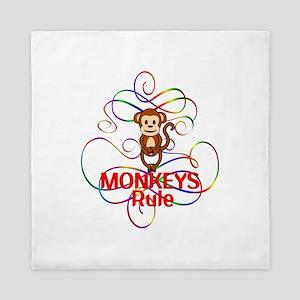 Monkeys Rule Queen Duvet