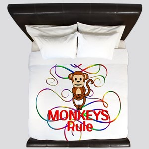 Monkeys Rule King Duvet