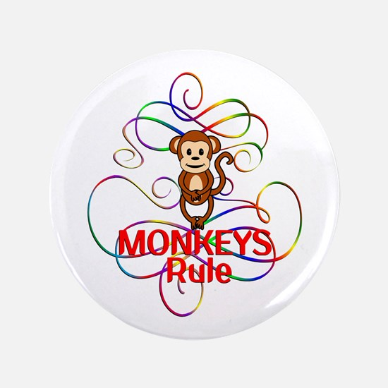 "Monkeys Rule 3.5"" Button (100 pack)"