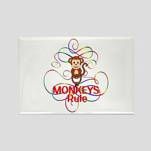 Monkeys Rule Rectangle Magnet
