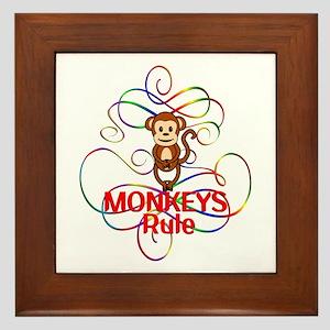 Monkeys Rule Framed Tile