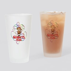 Monkeys Rule Drinking Glass