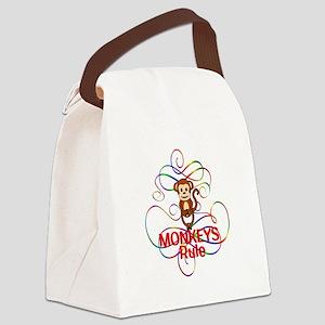 Monkeys Rule Canvas Lunch Bag