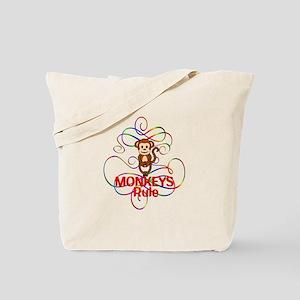Monkeys Rule Tote Bag