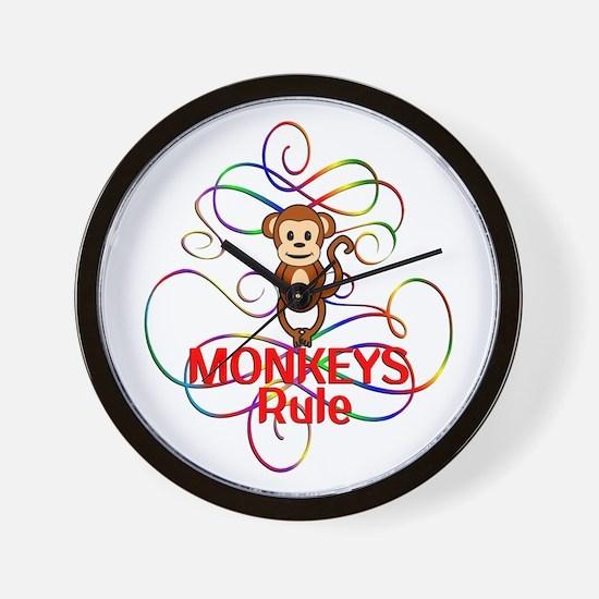Monkeys Rule Wall Clock