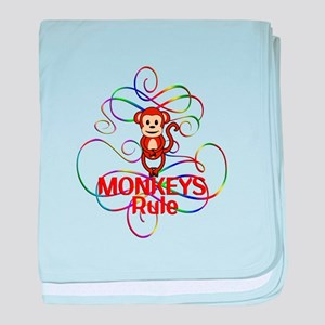 Monkeys Rule baby blanket