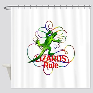 Lizards Rule Shower Curtain