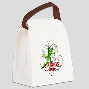 Lizards Rule Canvas Lunch Bag