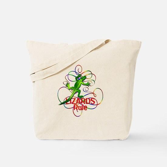 Lizards Rule Tote Bag
