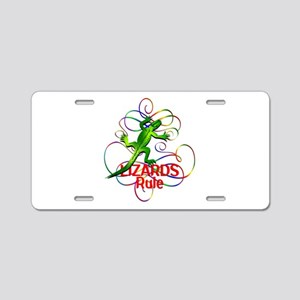 Lizards Rule Aluminum License Plate