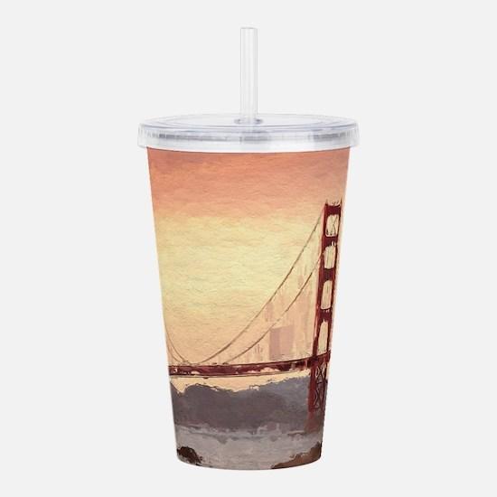 Golden Gate Bridge Ins Acrylic Double-wall Tumbler